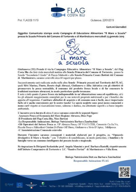 CS Avvio Il Mare a Scuola Flag Costa Blu 23.01